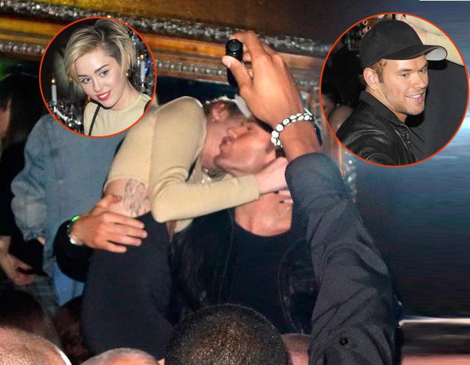 Cuối năm 2013, sau khi hủy hôn với Liam Hemsworth, Miley cặp với nam diễn viên Chạng vạng Kellan Lutz. Nguồn tin chia sẻ trên Us Weekly vào thời điểm đó, Liam cảm thấy tổn thương vì Kellan Lutz vốn là bạn của anh.