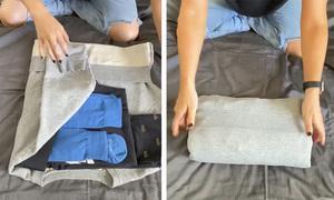 Mẹo gấp quần áo nhỏ gọn khi du lịch