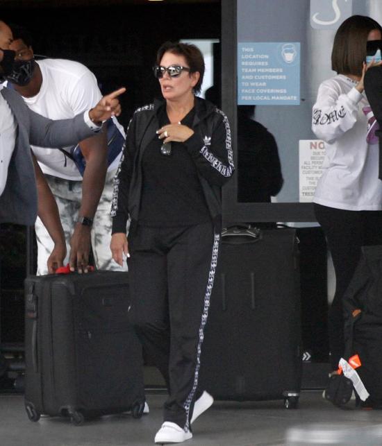 Bà Kris Jenner tham gia chuyến đi với các con.