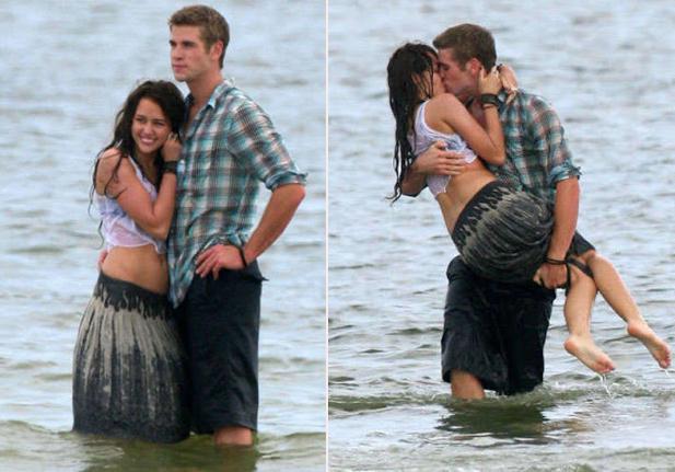 Miley và Liam năm 2009.