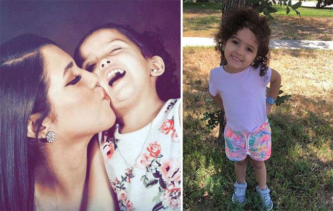 Saundra Gonzales và con gái Faviola Rodriguez khi cô bé còn sống. Ảnh: FB.