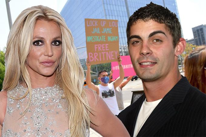 Jason Alexander đi biểu tình giải phóng Britney Spears khỏi sự giám hộ.