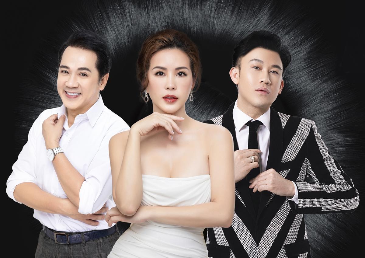 Dương Triệu Vũ (ngoài cùng bên phải) và rất nhiều nghệ sĩ, doanh nhân đã thoát ám ảnh tóc rụng, hói đầu.