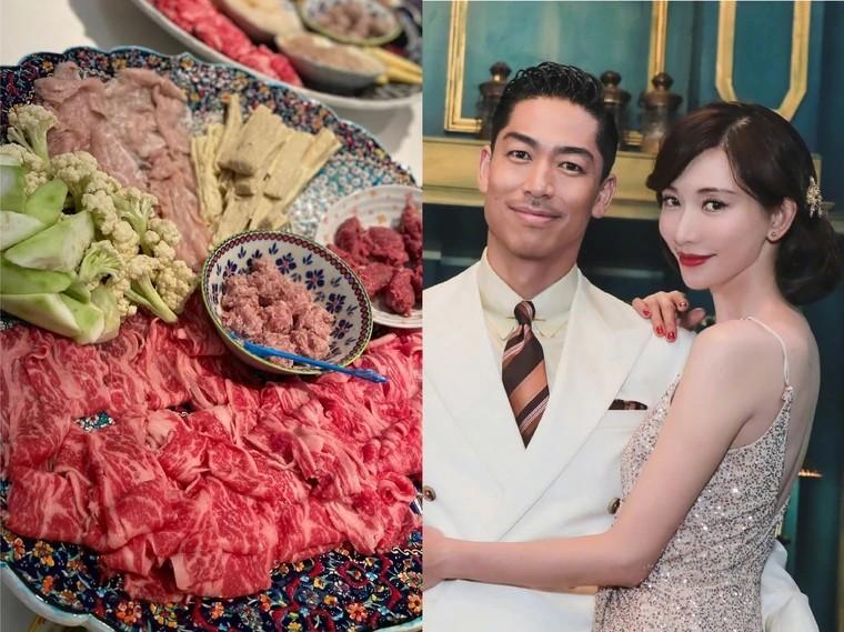 Lâm Chí Linh tự tay vào bếp nấu cho chồng thưởng thức.