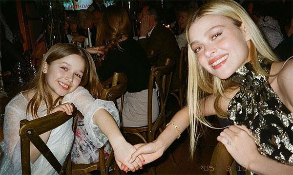 Người đẹp Nicola Peltz coi cô út nhà Becks như em gái, thân thiết và quý mến cô bé. Ảnh: Instagram.