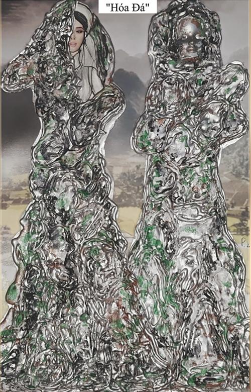 'Tô Thị' được Phạm Phước Điền lấy ý tưởng từ câu chuyện nàng Tô Thị hoá đá nổi tiếng trong truyền thuyết Việt Nam. Điểm nhấn của trang phục là phần hiệu ứng hoá đá.