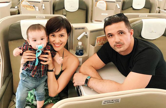 Gia đình nhỏ của Phương Mai.