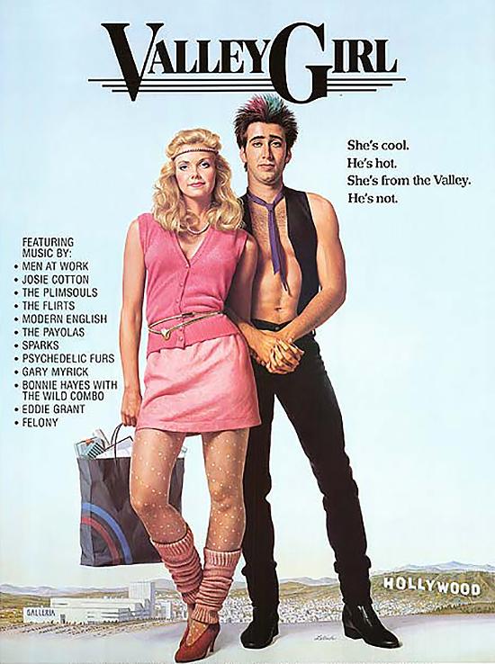 Váy NgắnKiểu váy này đã trở nên vô cùng nổi tiếng với giới trẻ thông qua các bộ phim nổi tiếng của Hollywood như Valley girl, Tuff turf...