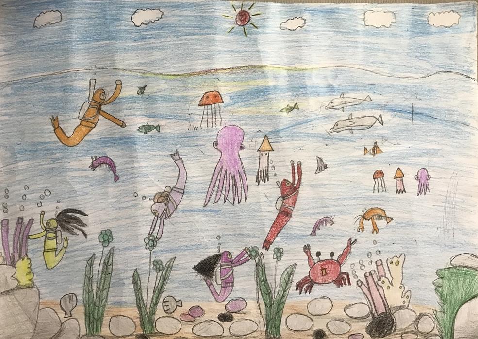 Bé Huỳnh Trung Nam (9 tuổi) mong mọi người hãy cùng chung tay bảo vệ môi trường biển để hệ sinh thái biển luôn phong phú và đa dạng.