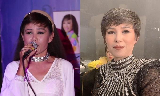 Carol Thủy thời đắt show 30 năm trước và hiện tại - khi tham gia show Ca sĩ ẩn danh.