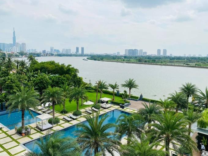 View hướng thành phố nhìn từ khách sạn. Ảnh Mia Saigon
