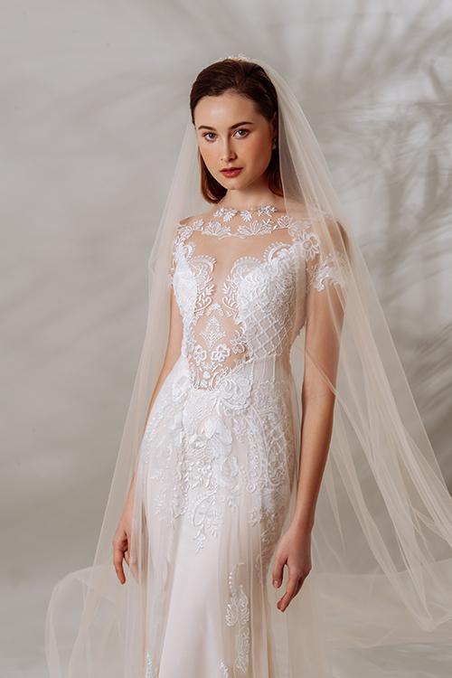 Mẫu đầm gợi nhắc tới các váy cưới xa xỉ, cầu kỳ của cô dâu Lebanese.