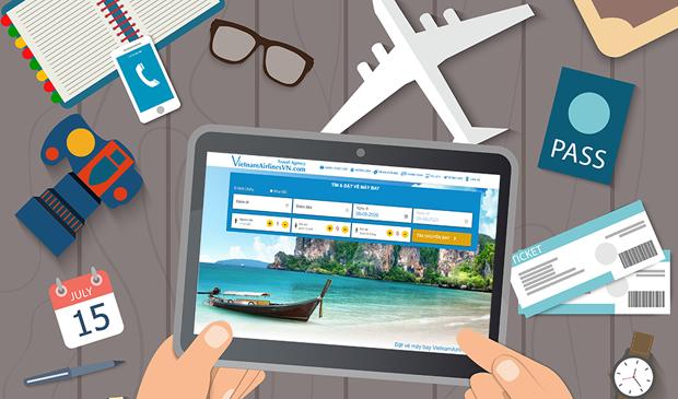 Người dùng có thể tìm mua vé máy bay giá rẻ nhanh chóng tại VietnamAirlinesVN.com.
