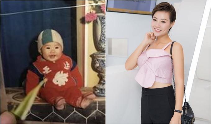 Diễn viên Thanh Hương đăng ảnh thời bé và hỏi fan mình có dậy thì thành công không?