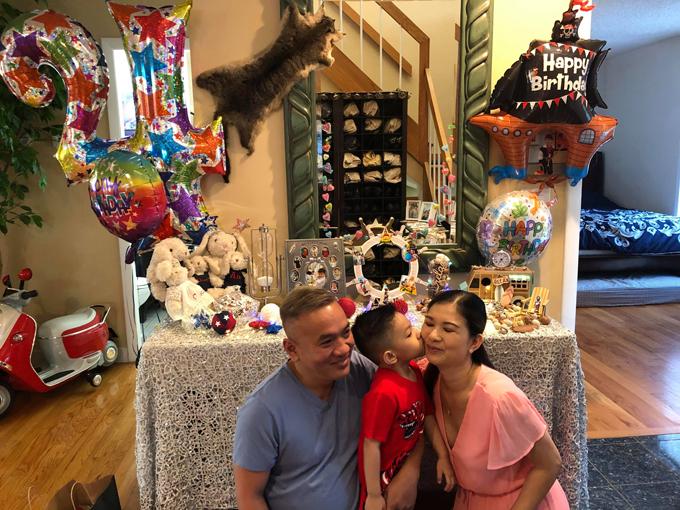 Concept tiệc sinh nhật 4 tuổi của bé Khang - con trai thứ hai của Phạm Thanh Thảo cũng do cô tự thực hiện.