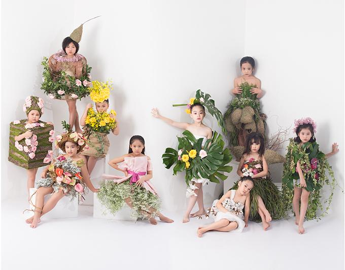 10 gương mặt nổi bậ của câu lạc bộ mẫu nhí Pinkids được đạo diễn Nguyễn Hưng Phúc chọn làm đại sứ cho show Pink Garden.