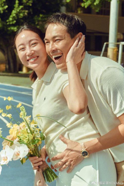 Tài tử Dương Hựu Ninh và bà xã.