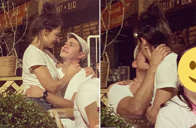 Một ngày trước đó, Katie Holmes được trông thấy ôm hôn bạn trai mới trong nhà hàng ở New York. Cô không ngần ngại ngồi lên đùi người tình và trao nụ hôn say đắm. Chàng trai này là  Emilio Vitolo Jr - đầu bếp kiêm chủ nhà hàng Italy, kém Katie 8 tuổi.