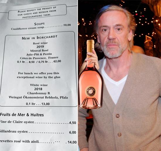 Chồng của Nicole phục vụ rượu vang hồng nhà Jolie-Pitt tại nhà hàng của ông.