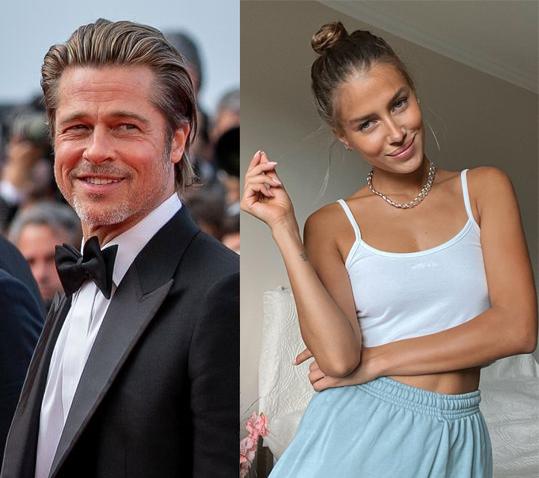 Brad Pitt và người tình Nicole Poturalski.