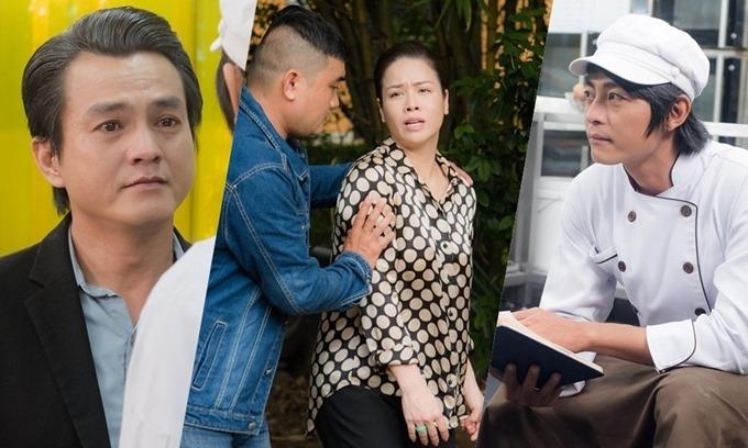 Cao Minh Đạt, Nhật Kim Anh và Quốc Huy (từ trái qua) trong phim Vua bánh mỳ.