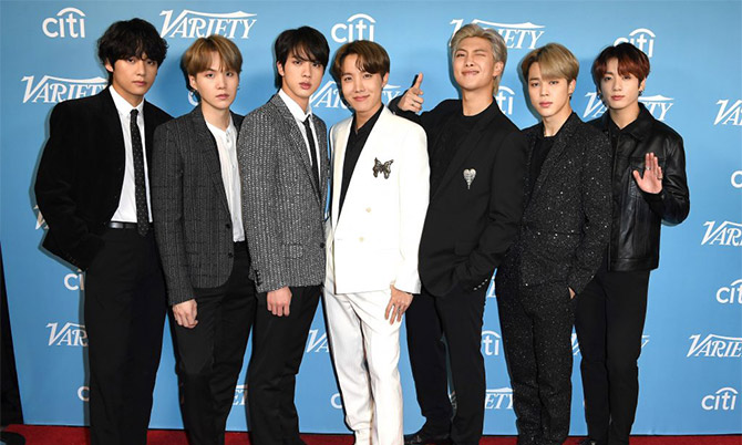 Bảy thành viên nhóm nhạc K-pop BTS. Ảnh: Variety.