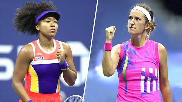Naomi Osaka và Victoria Azarenka đang là biểu tượng của làng tennis nữ, truyền thông điệp gây cảm hứng. Ảnh: USOpen.