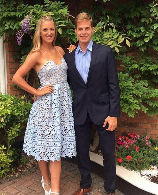 Azarenka và bạn trai cũ Billy McKeague. Ảnh: Instagram.