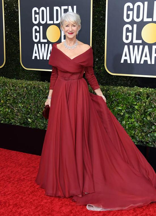 Helen Mirren, 75 tuổiHelen Mirren in Dior Haute Couture at Golden Globes 2020