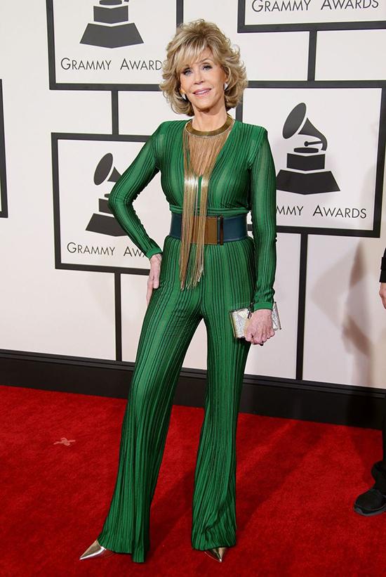 Jane Fonda in Balmain 2015
