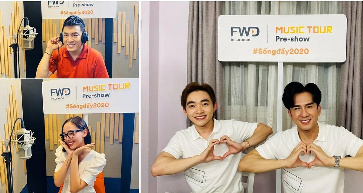 FWD Music Tour Pre-show là chương trình âm nhạc trực tuyến được những ca sĩ tên tuổi trong làng nhạc Việt dẫn dắt qua 5 tập.