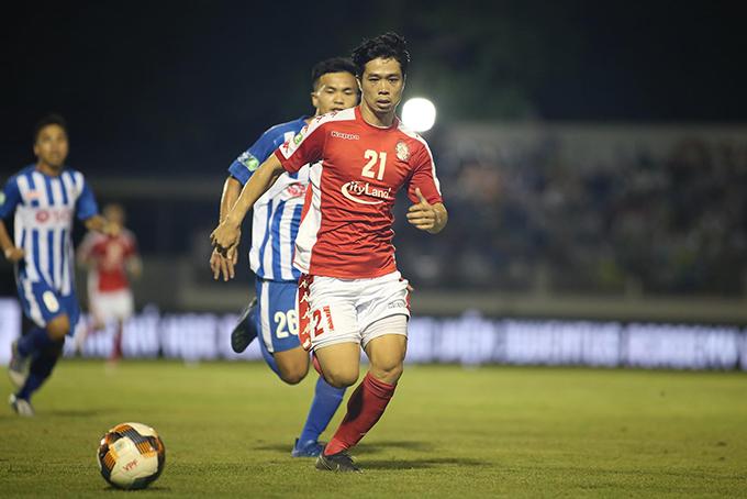 Công Phượng trong trận tứ kết Cup Quốc gia với Bà Rịa Vũng Tàu. Ảnh: CLB TP HCM.