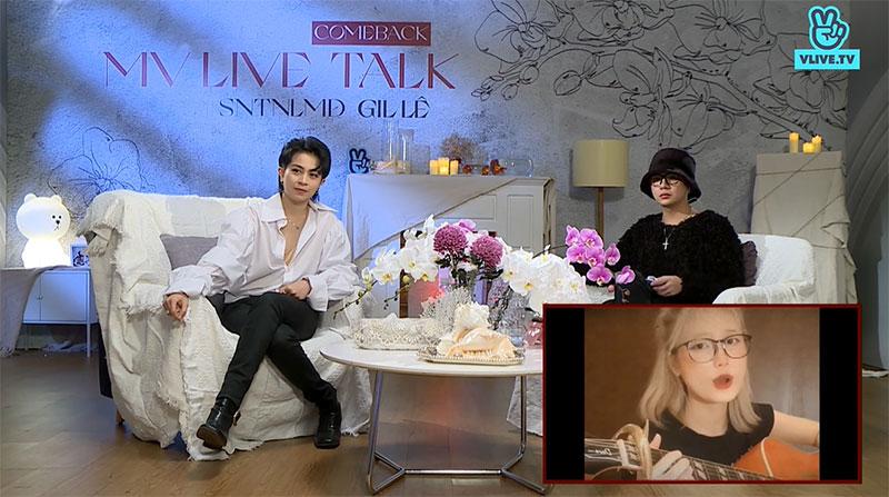 Tham gia chương trình, Gil Lê còn dành thời gian giao lưu, trả lời các câu hỏi của fan. Cô rất bất ngờ khi một fan đã nhanh chóng cover lại ca khúc mới toanh của mình.