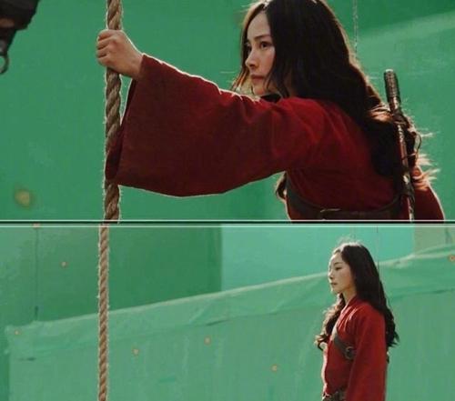 Người đẹp đóng thế thực hiện một cảnh thay cho Lưu Diệc Phi.