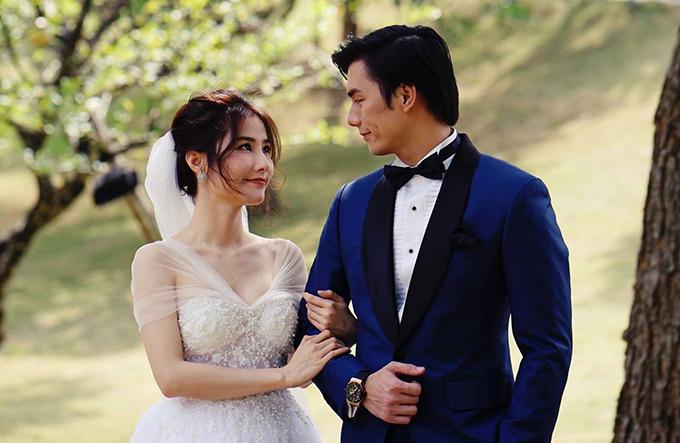 Diễm My 9X và Nhan Phúc Vinh làm cô dâu, chú rể trong tập cuối Tình yêu và tham vọng.
