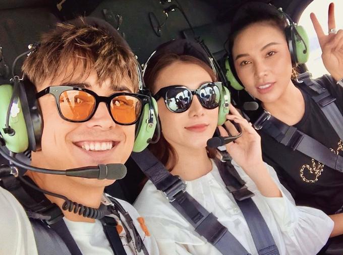 Ngọc Trinh bay trực thăng, thuê du thuyền trên vịnh Hạ Long - 6
