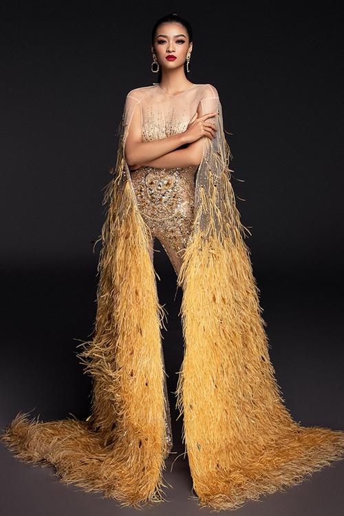 Người đẹp Miss Grand Thái Lan nhái váy Đỗ Long - 2