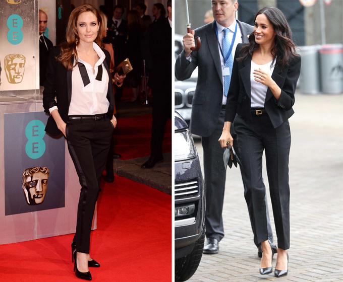 7 lần Meghan Markle học hỏi phong cách Angelina Jolie - 1