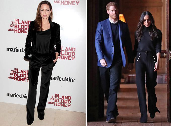 7 lần Meghan Markle học hỏi phong cách Angelina Jolie - 5