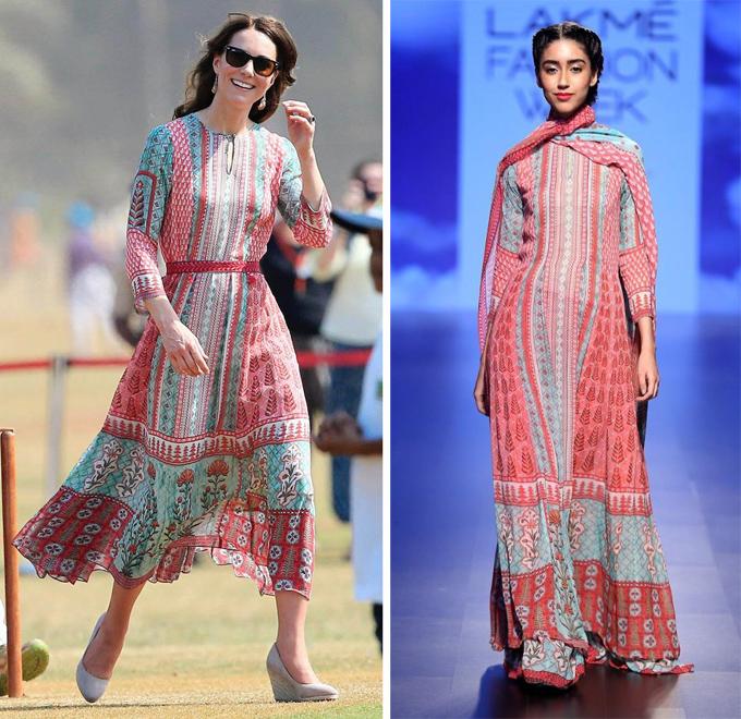 Phiên bản váy Kate mặc trông năng động, trẻ trung hơn nhiều so với thiết kế gốc.