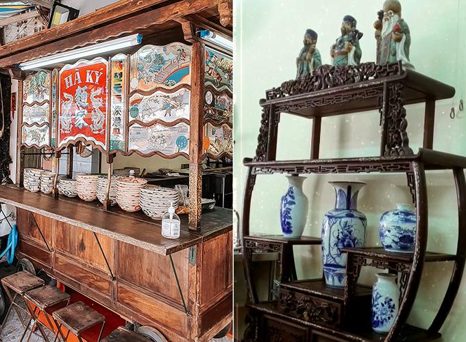 Adrian Anh Tuấn ấn tượng với thiết kế truyền thống của quán.