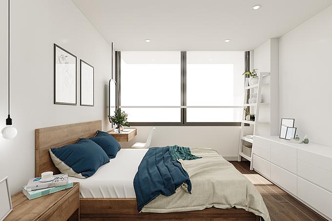 4. Chọn đồ trang trí tối giản: Muốn không gian nội thất phòng ngủ có sự hoà hợp về các yếu tố thì việc lựa chọn đồ trang trí cũng cần được quan tâm. Nên sử dụng những món đồ có kích thước vừa vặn, tránh sử dụng những vật trang trí có kích thước to, nhiều chi tiết rườm rà, sẽ gây cảm giác bí bách cho phòng ngủ của bạn.