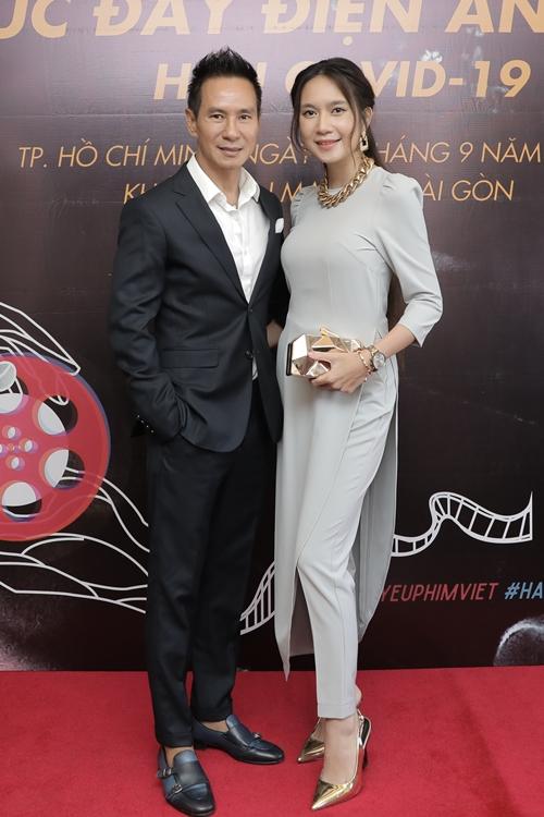 Đạo diễn Lý Hải dự họp báo cùng bà xã - nhà sản xuất Minh Hà.