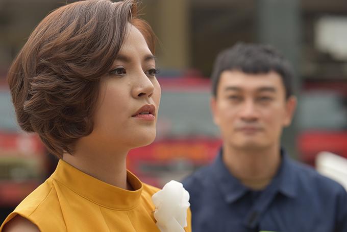Thu Quỳnh trong vai Ngọc của phim Lửa ấm.