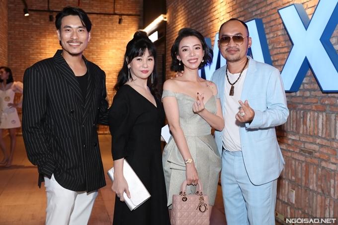 Vợ chồng Cát Phượng - Kiều Minh Tuấn hội ngộ vợ chồng diễn viên, nhà sản xuất Thu Trang - Tiến Luật.