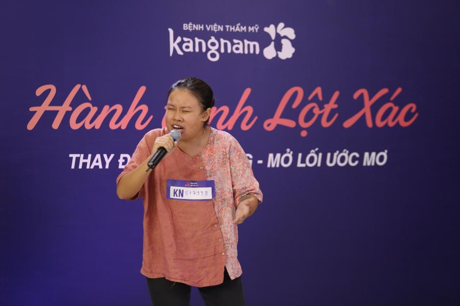 Thanh Hiền say sưa thể hiện tài năng tại chương trình.