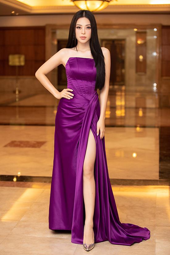 Phương Nga họp báo Hoa hậu Việt Nam 2020 sáng 24-9