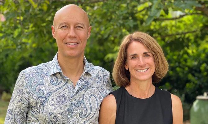 Jennifer và chồng, David Risher. Ảnh: NYP.