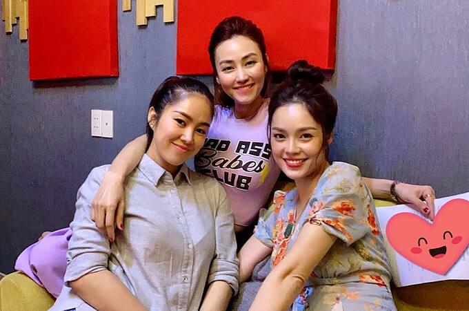 Ngân Khánh tụ tập cùng hai bà mẹ bỉm sữa Lê Phương và Dương Cẩm Lynh.