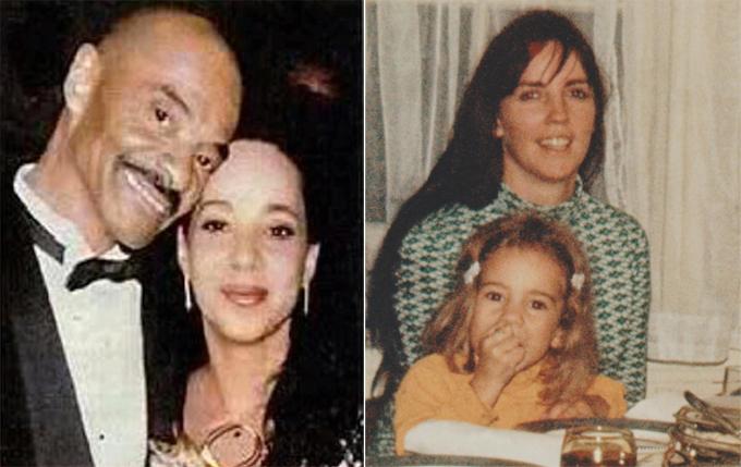 Chị gái Mariah bên bố (ảnh trái) và nữ ca sĩ lúc còn nhỏ bên mẹ.